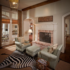 Traditional Living Room by Thompson Custom Homes