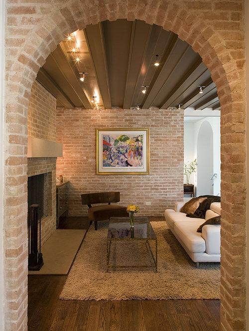 Brick Fireplace With Arch Ideas Houzz