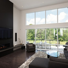 Contemporary Living Room by Woody's Custom Cabinetry
