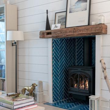 Bright Bazaar Herringbone Fireplace Tiles
