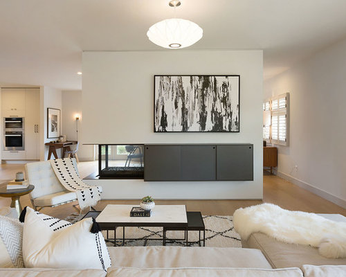 mid century living room ideas. Large 1950s formal and open concept light wood floor living room photo in  San Francisco with 15 Best Midcentury Modern Living Room Ideas Houzz