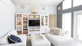 Bright Nautical Livingroom   Beach Style