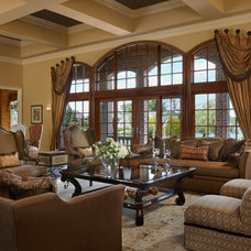 Traditional Living Room by k.c. interiors inc