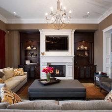 Traditional Living Room by Wallmark Custom Homes