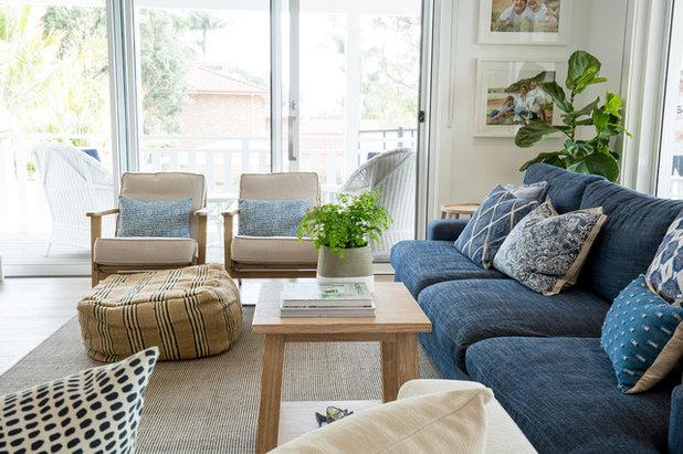 Beach Style Living Room by Designbx