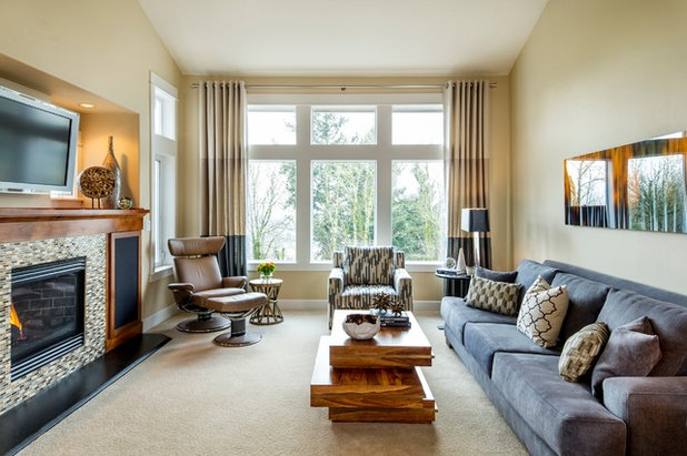 Contemporary Living Room by Jason Ball at The Decorators Unlimited