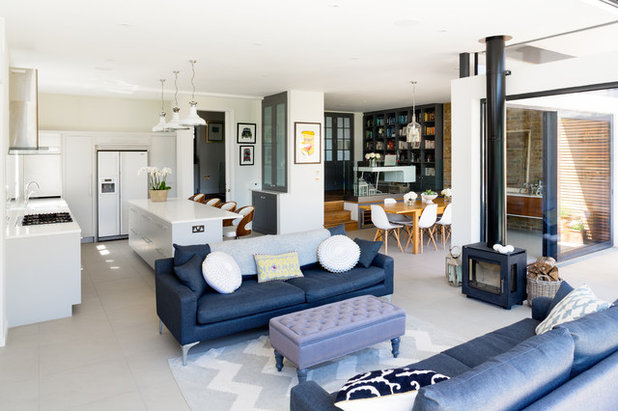 Contemporary Living Room by Granit Chartered Architects