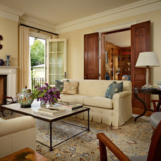 Traditional Living Room by Stuart Silk Architects | Limited PS