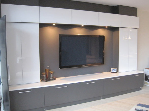 Contemporary Living Room by Korts & Knight, Kitchens by Alexandra Knight