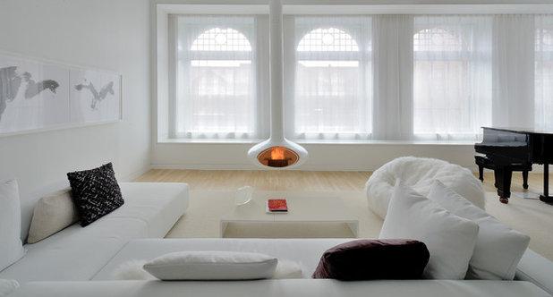 Scandinavian Living Room by David Hotson Architect