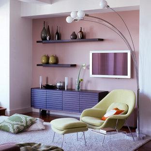 Inspiration för ett funkis vardagsrum