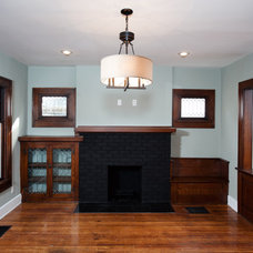 Traditional Living Room by Emergent Construction