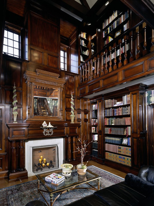 Library Fireplace | Houzz