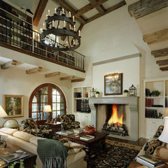 mediterranean living room by Summerour Architects