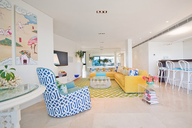 Beach Style Living Room by Bronwyn Poole of Touch Interiors