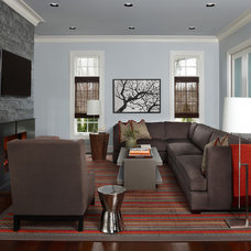 Transitional Living Room by Sterling Development Corp.