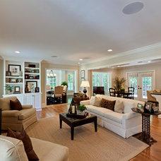 Traditional Living Room by Blake Shaw Homes, Inc