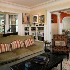 Traditional Living Room by Leslie Saul & Associates