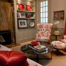 Transitional Living Room by Dietz & Associates Inc.