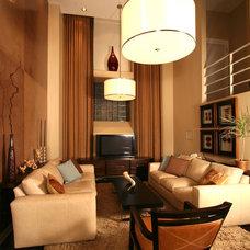 Contemporary Living Room by Dominic Fusco Studios