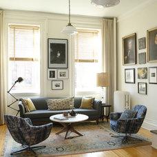 Transitional Living Room by Heide Hendricks