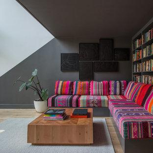 Living room - contemporary living room idea in Portland