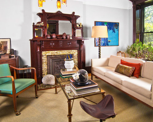 newest living room designs. Inspiration for an eclectic living room remodel in New York with gray walls  and a standard 25 Best Eclectic Living Room Ideas Remodeling Pictures Houzz