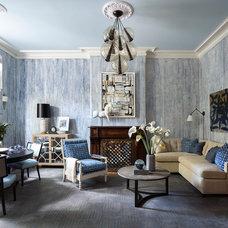 Transitional Living Room by Robert Granoff