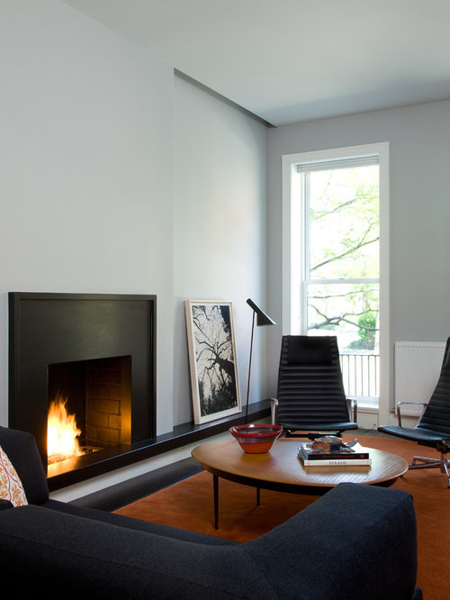 Mid-century Modern Gas Fireplace | Houzz