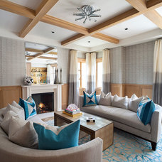 Contemporary Living Room by Morris & Woodhouse Interiors llc