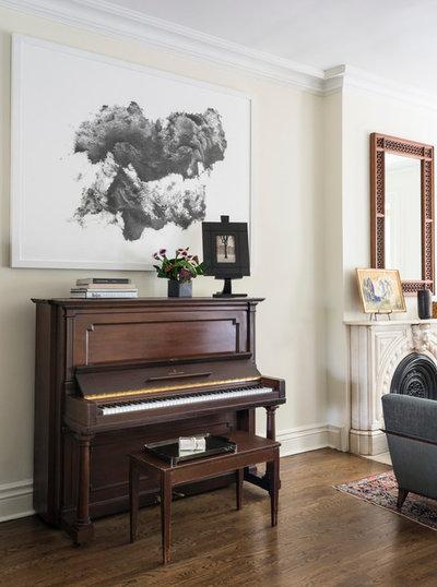 Transitional Living Room by Elizabeth Bolognino Interiors LLC