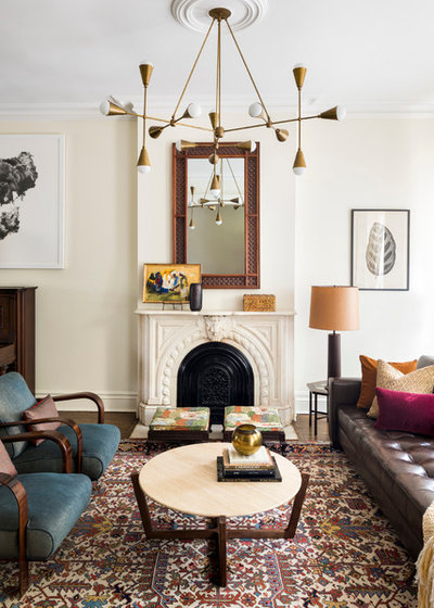 Transitional Living Room by Elizabeth Bolognino Interiors LLC