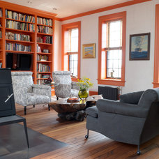 Transitional Living Room by Rafe Churchill: Traditional Houses