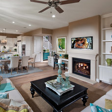 Traditional Living Room by Brookfield Residential Northern California