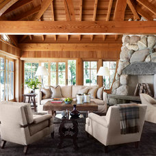 Rustic Living Room by SALA Architects