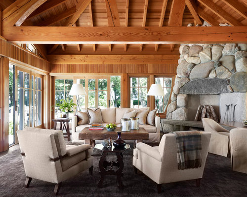 Brookside retreat for Four season rooms with fireplaces