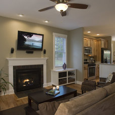 Contemporary Living Room by Brookstone Builders