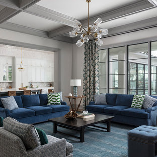 Photo of a coastal formal enclosed living room in Jacksonville with white walls.
