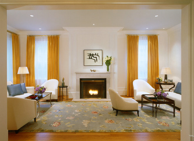Contemporary Living Room by BROWN DAVIS INTERIORS, INC.
