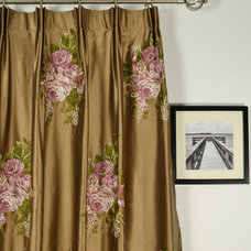 Traditional Living Room by Cheery Curtains
