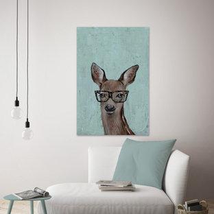 """Brown Hippie Deer II"" Painting Print on Wrapped Canvas"