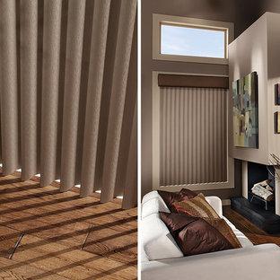 Inspiration for a modern living room remodel in Denver