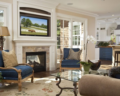 Traditional Living Room Idea In San Francisco With Beige Walls A Standard Fireplace And