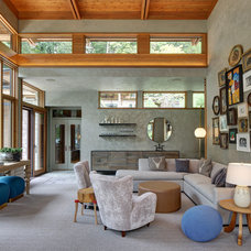 Transitional Living Room by Colby Construction