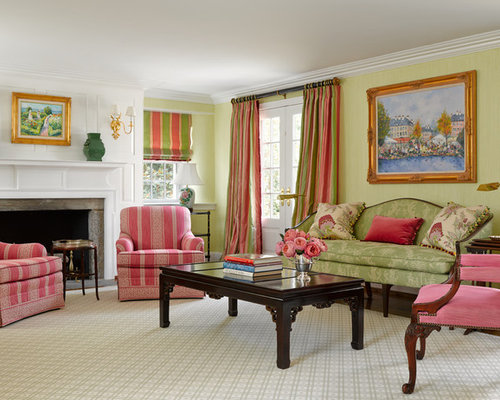 Best Pink And Green Living Room Design Ideas Remodel