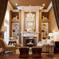 Traditional Living Room by AK Interior Design Associates, LLC