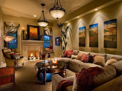 Traditional Living Room Bubier Beige living room