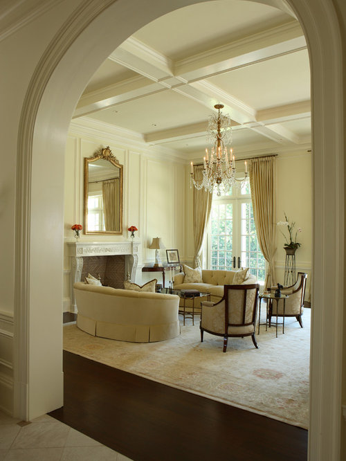 Attractive Inspiration For A Timeless Living Room Remodel In Atlanta With Yellow Walls Part 20