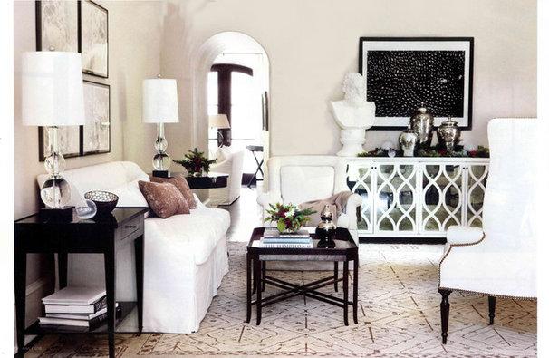 Contemporary Living Room by Yvonne McFadden LLC