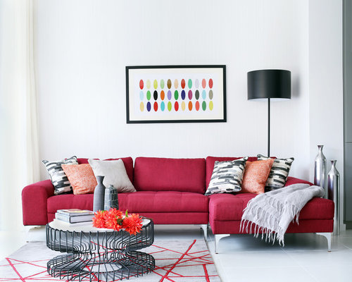 Living Room Red Sofa Ideas, Pictures, Remodel And Decor